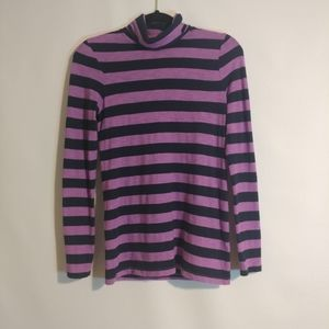 J.Crew Striped Turtle Neck Sweater